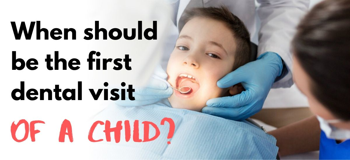 Child visiting the dentist